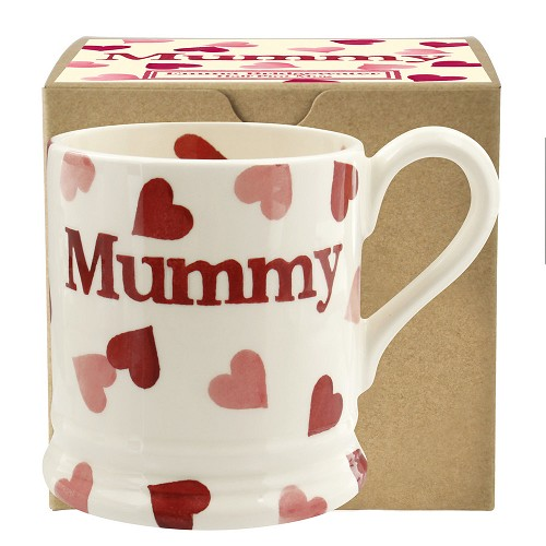 ½ pt Mug Pink Hearts mummy Boxed