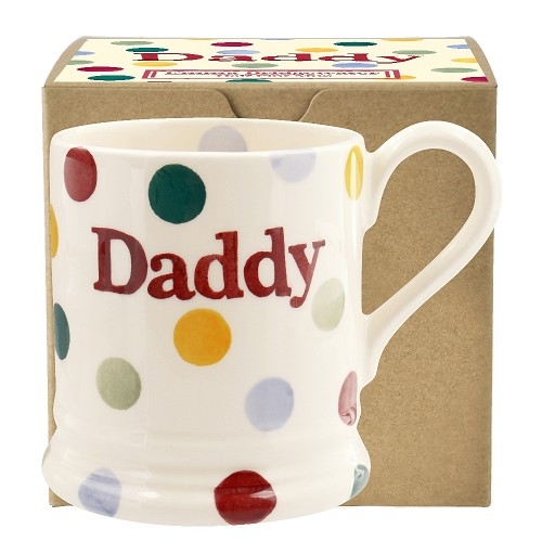 ½ pt Mug Daddy Polka Dots Boxed
