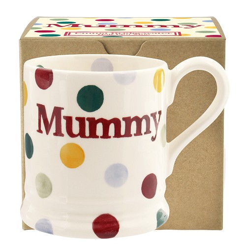 ½ pt Mug Mummy Polka Dots Boxed