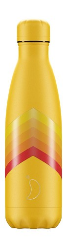 Chilly's Bottle 500ml Yellow Zigzag