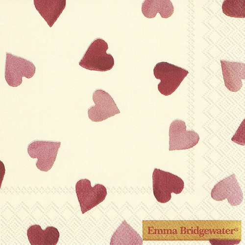 Cocktail Napkins Pink Hearts
