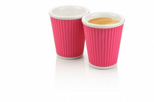 Set of 2 Coffee Cups 18cl Pink