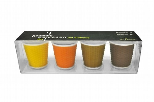 Espresso Cups 10cl set of 4 Brown