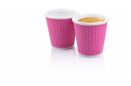 Set of 2 Honeycombs Espresso Cups 10cl Pink
