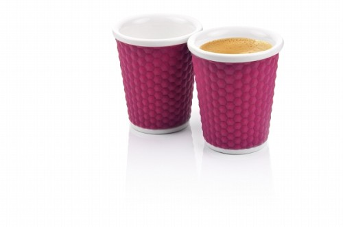 Honeycombs Coffee Cups 18cl Eggplant