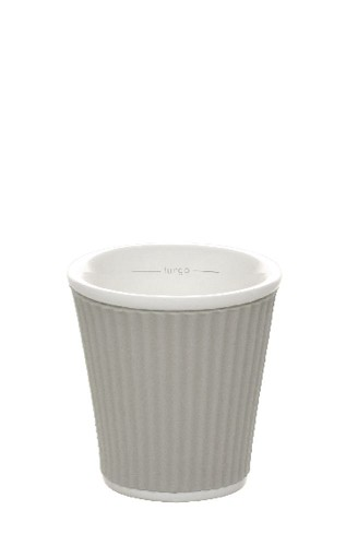 Coffee Cups 8cl Light Grey