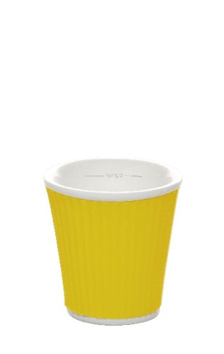 Coffee Cups 8cl Yellow